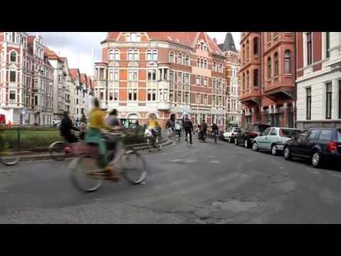 Fahrrad Flashmob auf dem Lichtenbergplatz