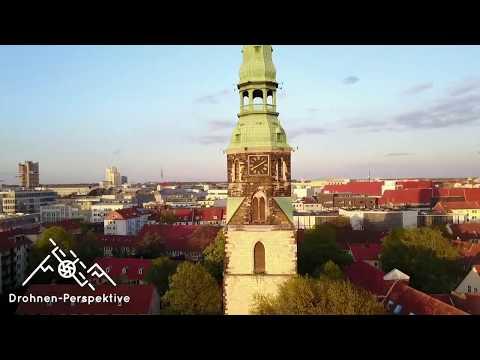 Kreuzkirche Hannover / Drohnen-Perspektive Drohnenaufnahme
