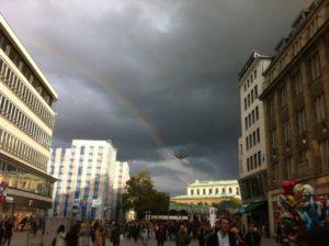 Regenbogen am Kröpcke