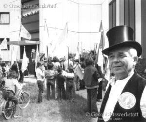 Fritz Röttger beim Fest in der ehemaligen Fannystraße
