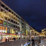Weihnachtsbeleuchtung in der Bahnhofsstraße