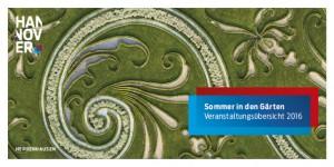 Sommer in Herrenhausen - Programmflyer 2016