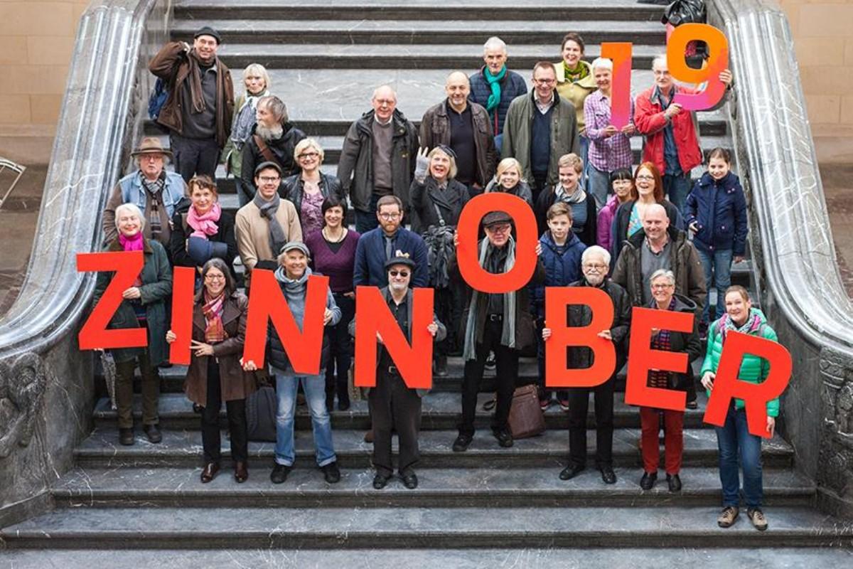 KünstlerInnen, GaleristInnen und Kunstschaffende des diesjährigen ZINNOBER-Kunstvolkslaufs