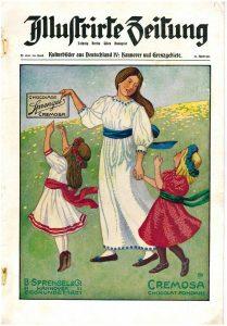 """Änne Kokens Jugendstil-Werbung für die """"Cremosa Chocolade"""" von Sprengel (Bildquelle: Wikipedia)"""