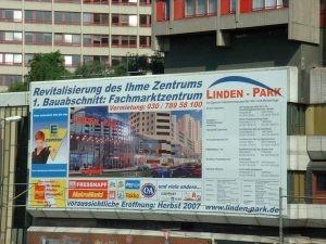 Bauschild Lindenpark 2006