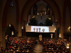 Die Gemeinde St. Joseph zeigt das Krippenspiel als Schattenspiel