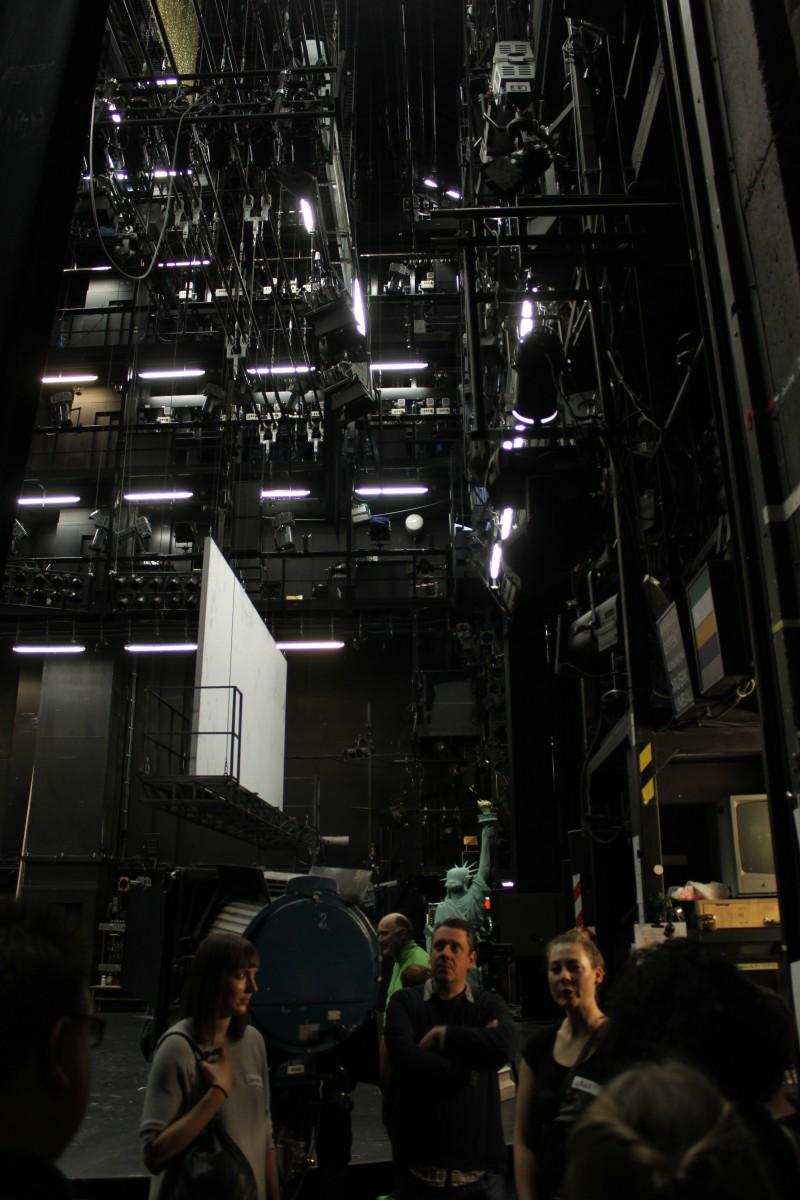 Hinter der Bühne im Schauspielhaus