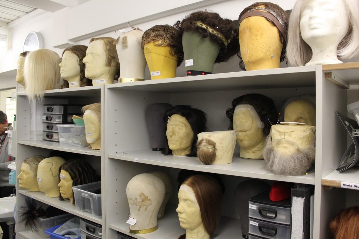 Requisiten in der Maske