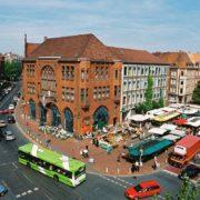 Samstägliches Herz des Stadtteils Linden der Lindener Marktplatz