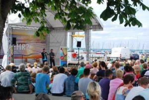 Poetry Slam auf der Seebühne (Foto:Astrid Eblenkamp)