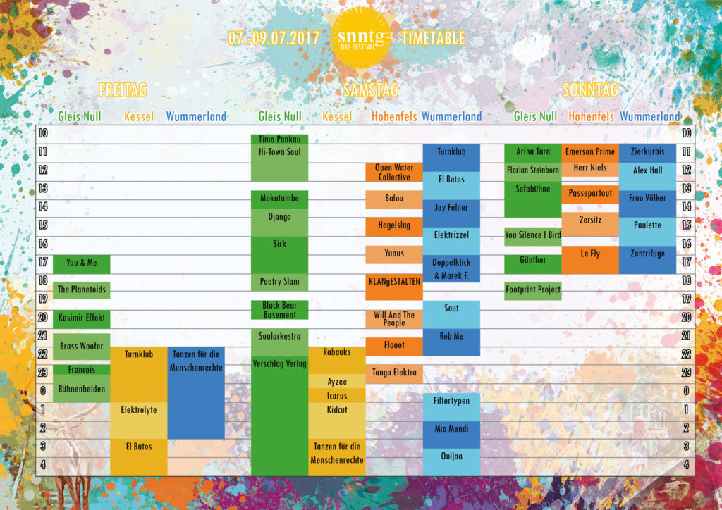 Timetable SNNTG