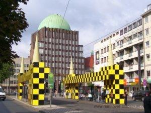 Alte Haltestelle Steintor (wird ab 2018 wieder als Bushaltestelle in der Kurt-Schumacher-Straße dienen)