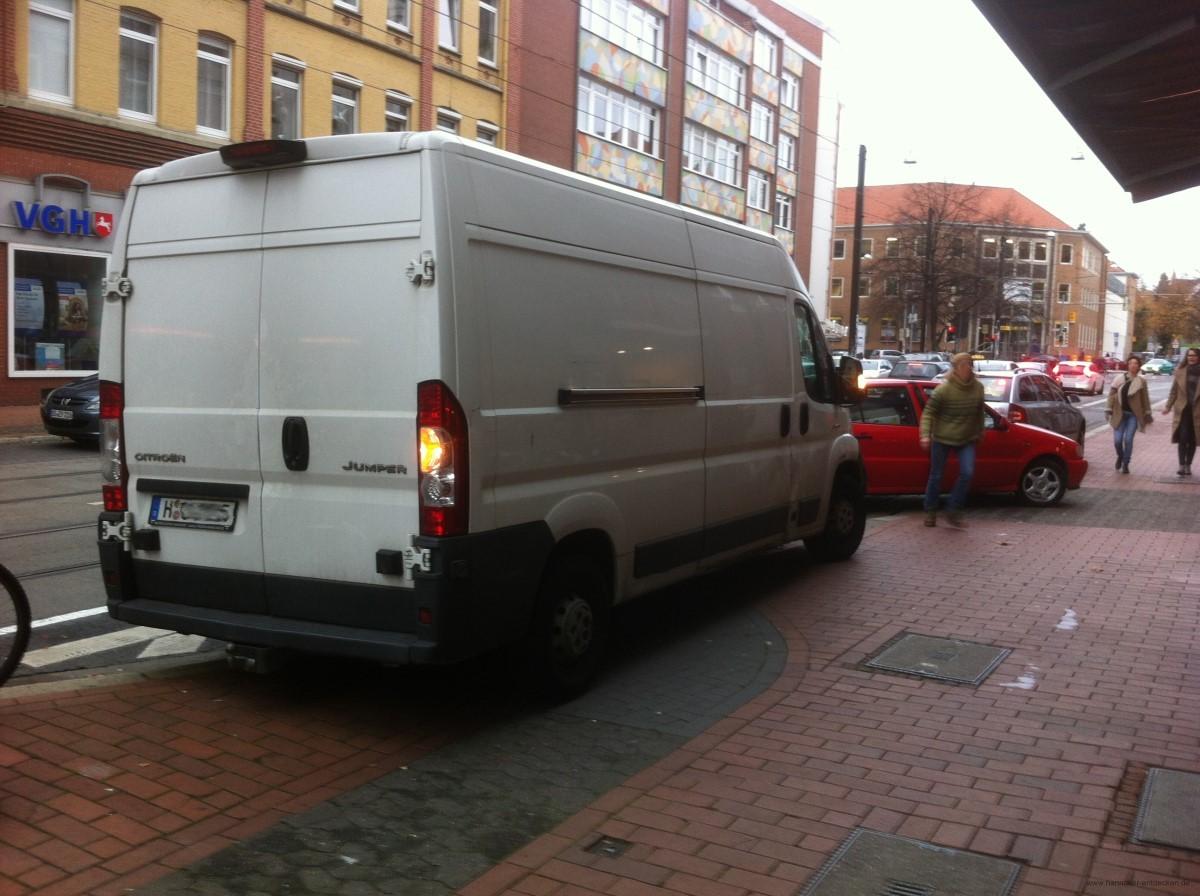 Lieferverkehr am Lindener Markt