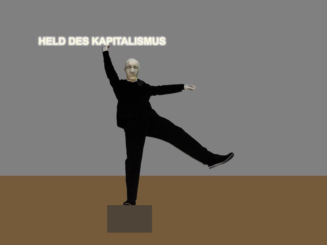 "Thomas Sterna: ""Held des Kapitalismus"", Skulptur"