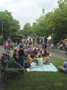 Picknick auf der Georgstraße