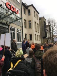 Demonstration vor der CDU Zentrale