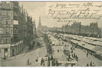 Markt auf dem Klagesmarkt um 1910