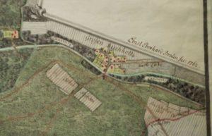 Groß-Buchholz in einem Plan von Ernest Eberhard Braun aus dem Jahr 1762 (Buchholz-Kleefeld)