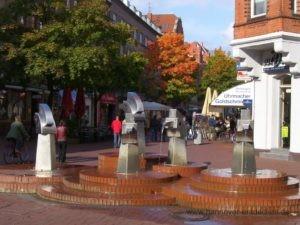 Brunnen auf der Lister Meile im Stadtbezirk Vahrenwald-List