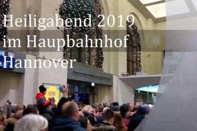 Heiligabend 2019 im Hauptbahnhof Hannover