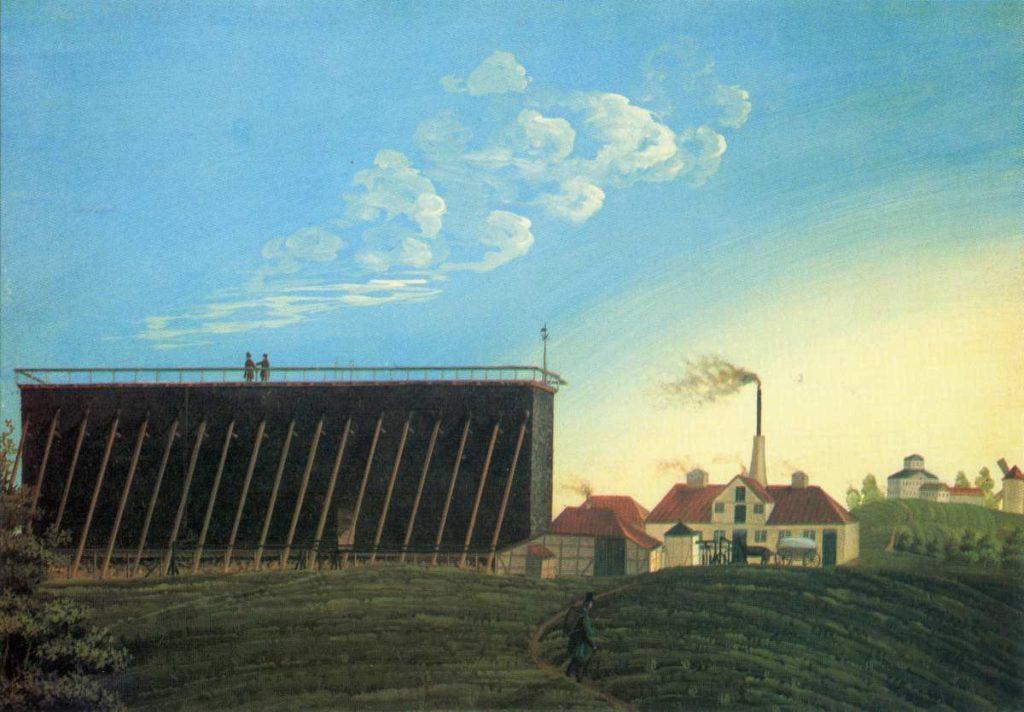 Die von Georg Egestorff erbaute Saline Egestorffshall in Badenstedt um 1835