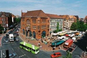 Der Lindener Marktplatz das Zentrum von Linden-Mitte