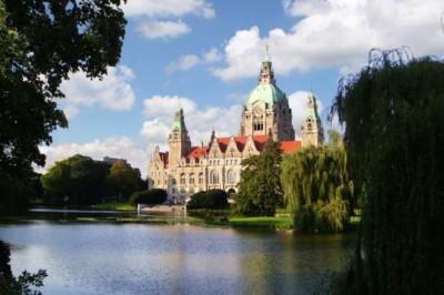Klassisches Motiv vom Neuen Rathaus Hannover