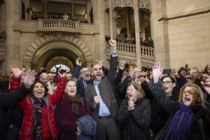 Jubel im Rathaus