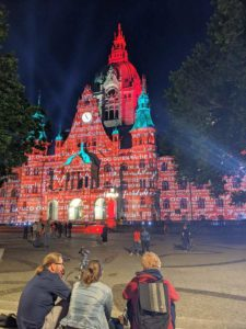 Neues Rathaus bei der Night of Light 2020