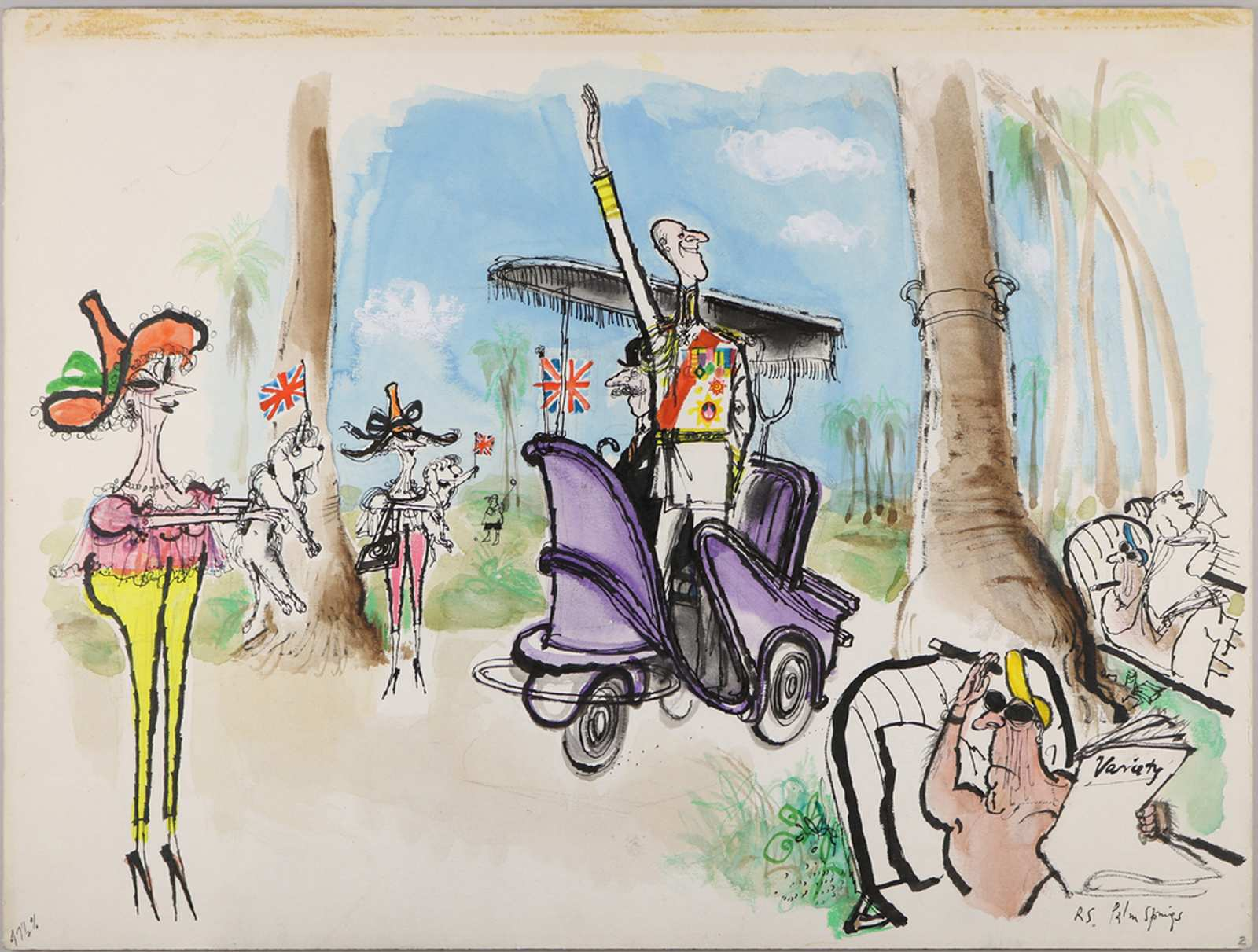 Ronald Searle: Palm Springs, 1966