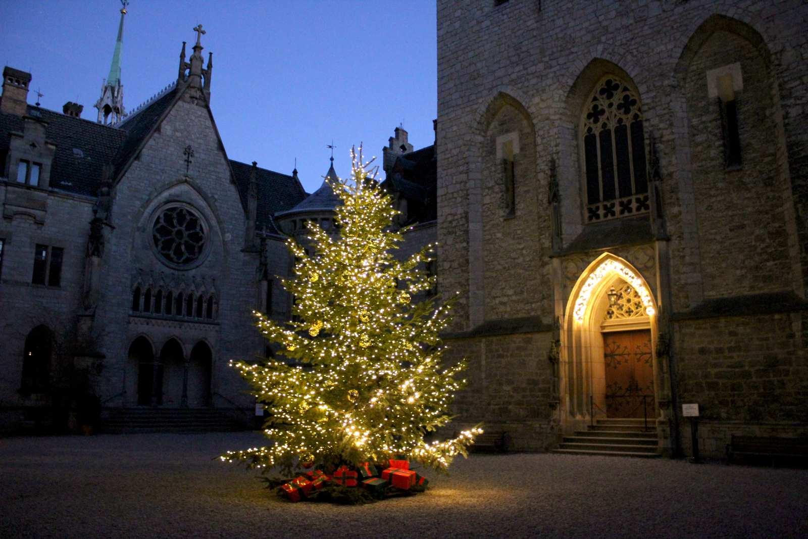 Weihnachtsbaum im Schloss Marienburg