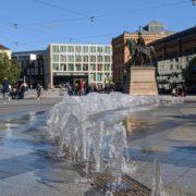 HAZ Brunnen auf dem Ernst-August-Platz