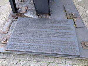 Inschrift zum Mahnmal