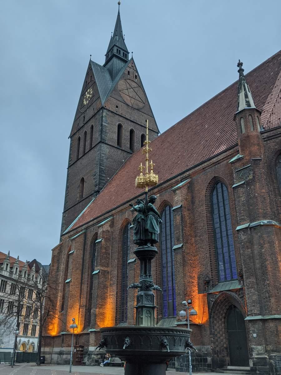 Beleuchtete Marktkirche