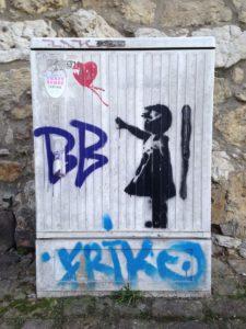 Banksy am Hohen Ufer