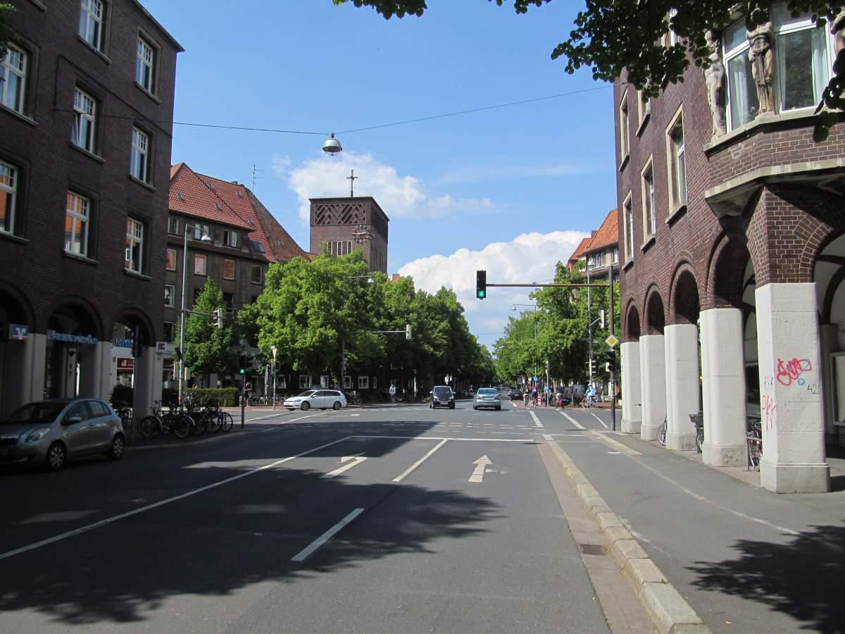 Bessere Wohngegend gleich Arbeitslosigkeit in Hannover - Sallstraße in der Südstadt