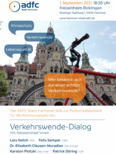 ADFC Verkehrswende-Dialog Podiumsdiskussion
