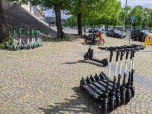 E-Scooter - Hotspot am Sprengel Museum